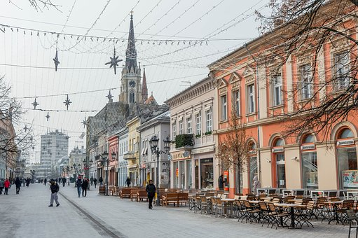Novi, Sad, Serbia, Old, City, Center, Architecture