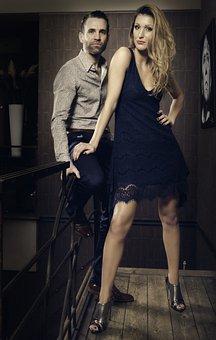 Man, Woman, Model, Shoes, Male, Female, Caucasian