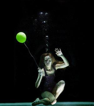 Underwater, Model, Fine Arts, Freedom, Suffocation