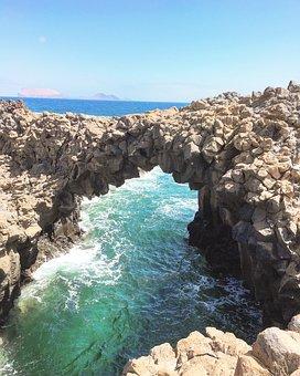 Gracioca, Lanzarote, Los Arcos, Natural, Sea, Formation