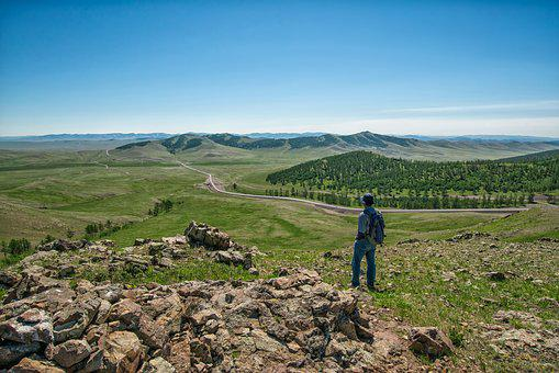 Journey, Mongolia, The Eurasian Continent, Hill