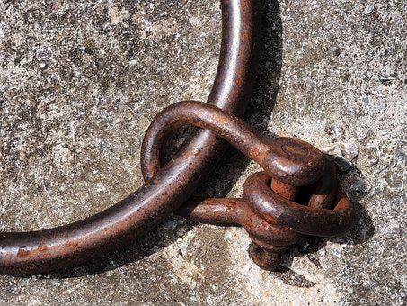 Shackle, Ring, Iron, Steel, Rust, Attach, Attachment