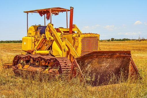 Bulldozer, Old, Rusty, Machinery, Vehicle, Heavy