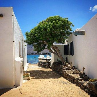 Graciosa, Lanzarote, Sand, Sea, Spain, Landscape
