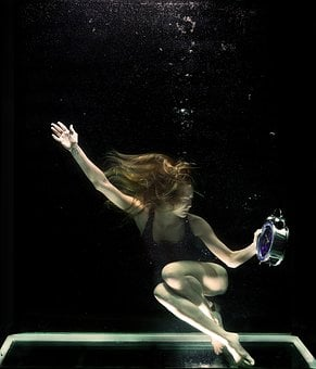 Underwater, Model, Fine Arts, Freedom, Suffocation