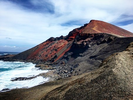 Volcano, Lanzarote, Canary, Landscape, Nature, Volcanic