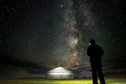 Starry Sky, Gel, Pao, Bogart Village, Mongolia