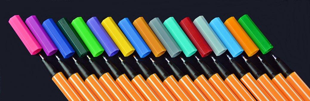 Pens, Stabilo, Color, Colour Pencils