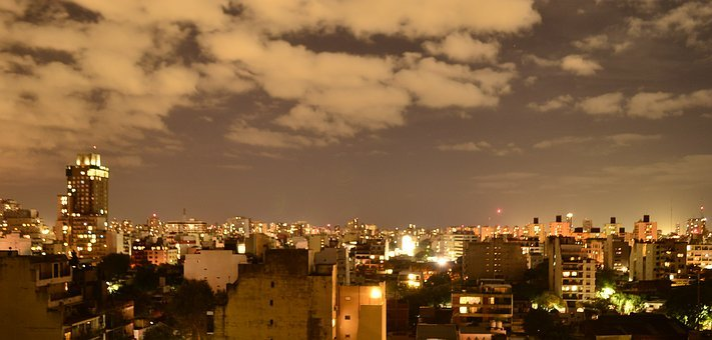 City, Night, Buildings, Lights, Street, Dark, At Night