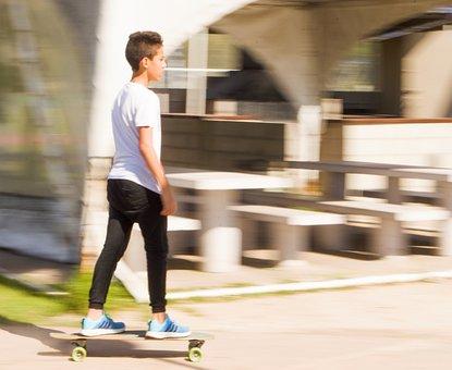 Skateboard, Guy, Games, Child, Play, Sport