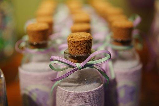 Bottle, Gift, Little, Mushroom, Cork, Purple, Handmade