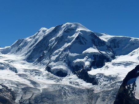Alpine, Mountains, Lyskamm, Glacier, Switzerland