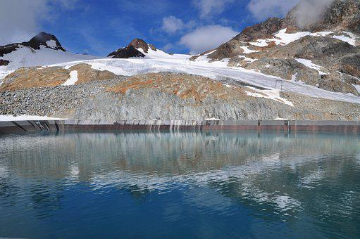 Water, Mountains, Glacier