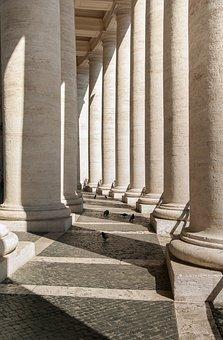 Rome, Columns, Vatican, John Dory Up