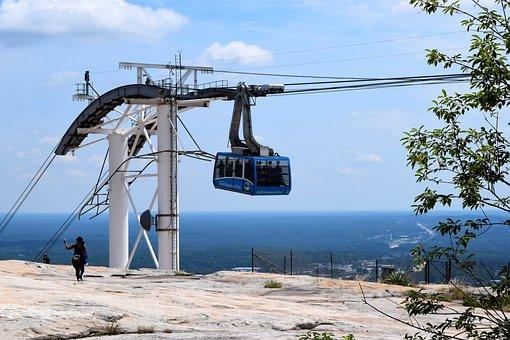 Stone Mountain, Georgia, Cable Lift, Mountain, Height