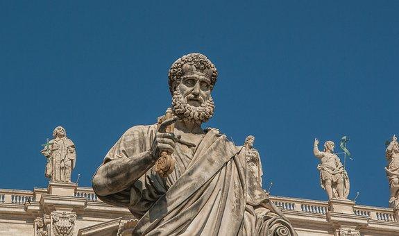 Rome, Saint-pierre, Statue, Vatican