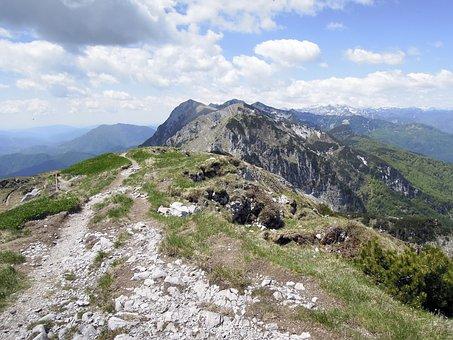 Mountain, Chain, Alps, Rock, Landscape, Europe, Sky