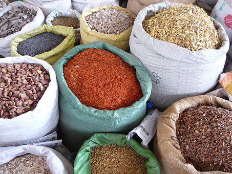 Spices, Market, Food, Red, Cooking, Organic, Herb