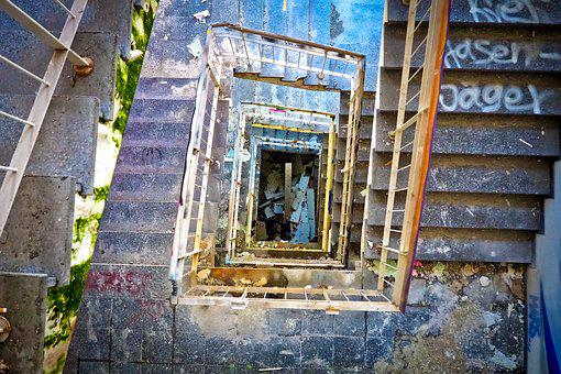 Lost Places, Factory, Old, Lapsed, Building, Stairs