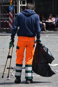 Garbage, Nightman, Job, Uniform, Man, People