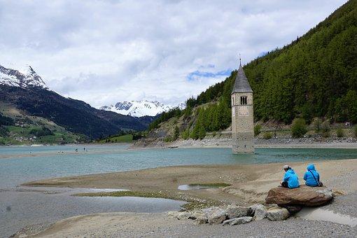 Reschensee, Curon Venosta, Resia Lake