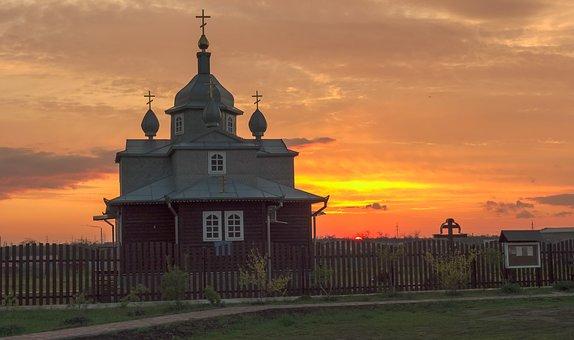 Church, Sunset, Temple, Religious, Orthodox