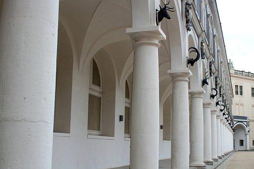 Columnar, Arcade, Sand Stone, Architecture, Building