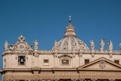 Rome, Basilica, Saint-pierre, Dome, Statues