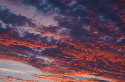 Sunset, Sunrise, Sun, Afterglow, Morgenrot, Clouds