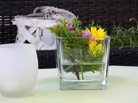Deco, Decoration, Table Decorations, Vase, Flowers