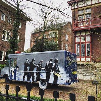 Amsterdam, Banksy, Graffiti, Design, Illustration