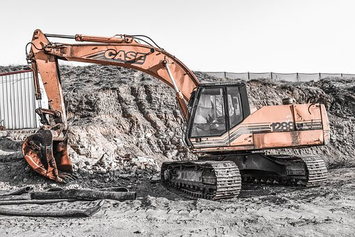 Heavy Machines, Digger, Construction Site, Excavator