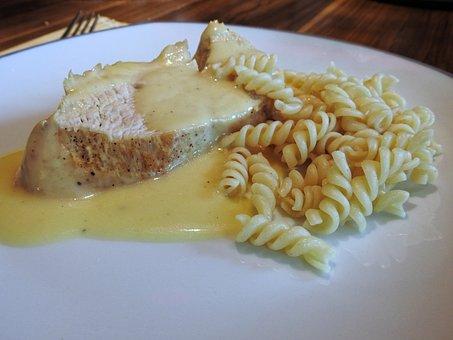 Noodles, Spiral Pasta, Pasta, Food, Lunch, Eat