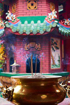 Incense, Temple, Chinese, Buddhism, Travel, Religion