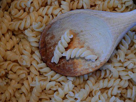 Noodles, Spiral Pasta, Pasta, Food, Lunch, Vegetarian