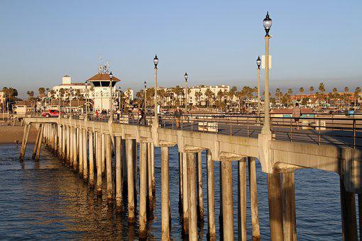 California, Dock, Pier, Coast, Pacific, Usa