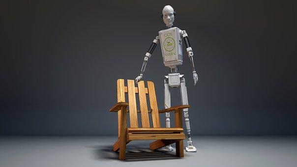 Droid, Robot, Grey, Wallpaper, 3d, Installation