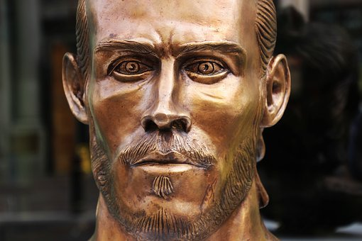 Gareth Bale, Footballer, Bronze, Sculpture, Football