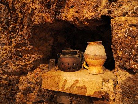 Old, Cave, Crock, Bowl Old