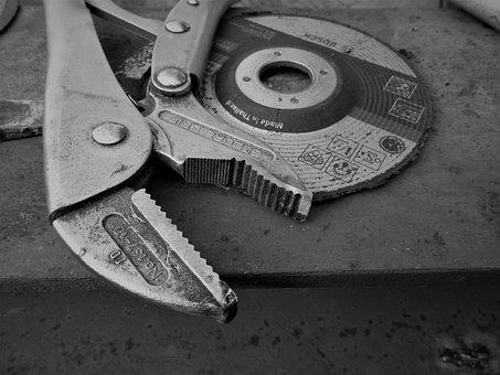 Pliers, Tool, Cutting Disc, Anvil, Metal, Craft