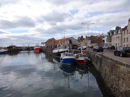 Anstruther, Boat, Harbor, Sea, Scotland, Fife, Fishing