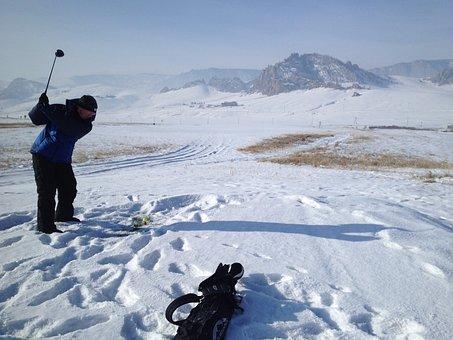 Mongolia, Golf, Terelj, Genghis Khan Country Club