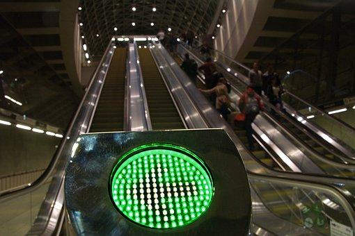 Hungary, Budapest, City, Capital, 4, Metro, Escalator