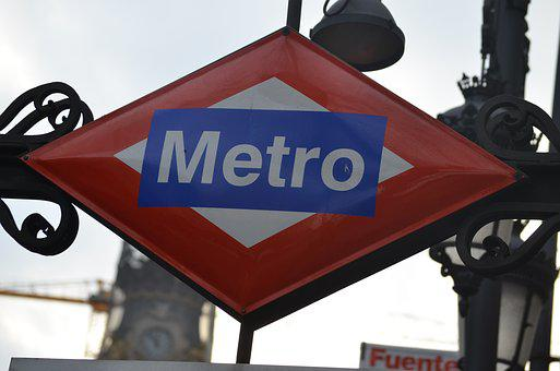 Metro, Madrid, Plates, Transport, Station