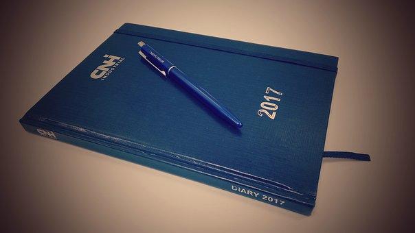 Diary, Office, Pen, Management, Notes, Folder, Planner