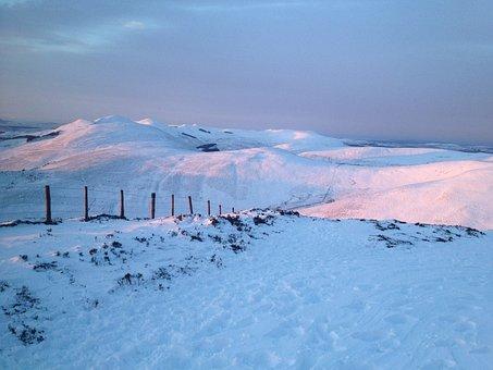 Pentland Hills, Edinburgh, Winter, Scotland, Hill