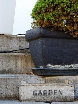 Stairs, Stone Stairway, Stone, Concrete, Bucket, Vessel