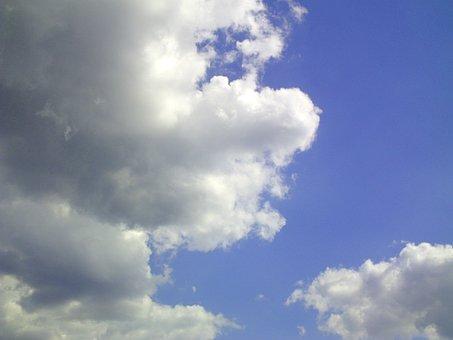 Cloud, Cumulus, Sky, Blue, Sunny, Sunny Day