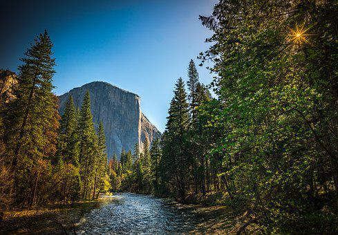 Yosemite, El Capitan, California, Landscape, Nature