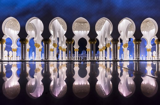 Masjid, Abu Dhabi, Architecture, Islamic, Uae, Religion
